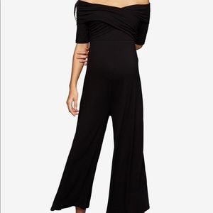 A pea in the pod, black wide-leg Jumpsuit-Small